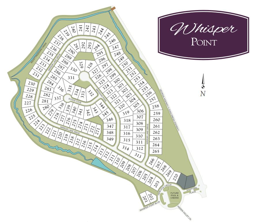 Cumming GA SIte Plan Whisper Point